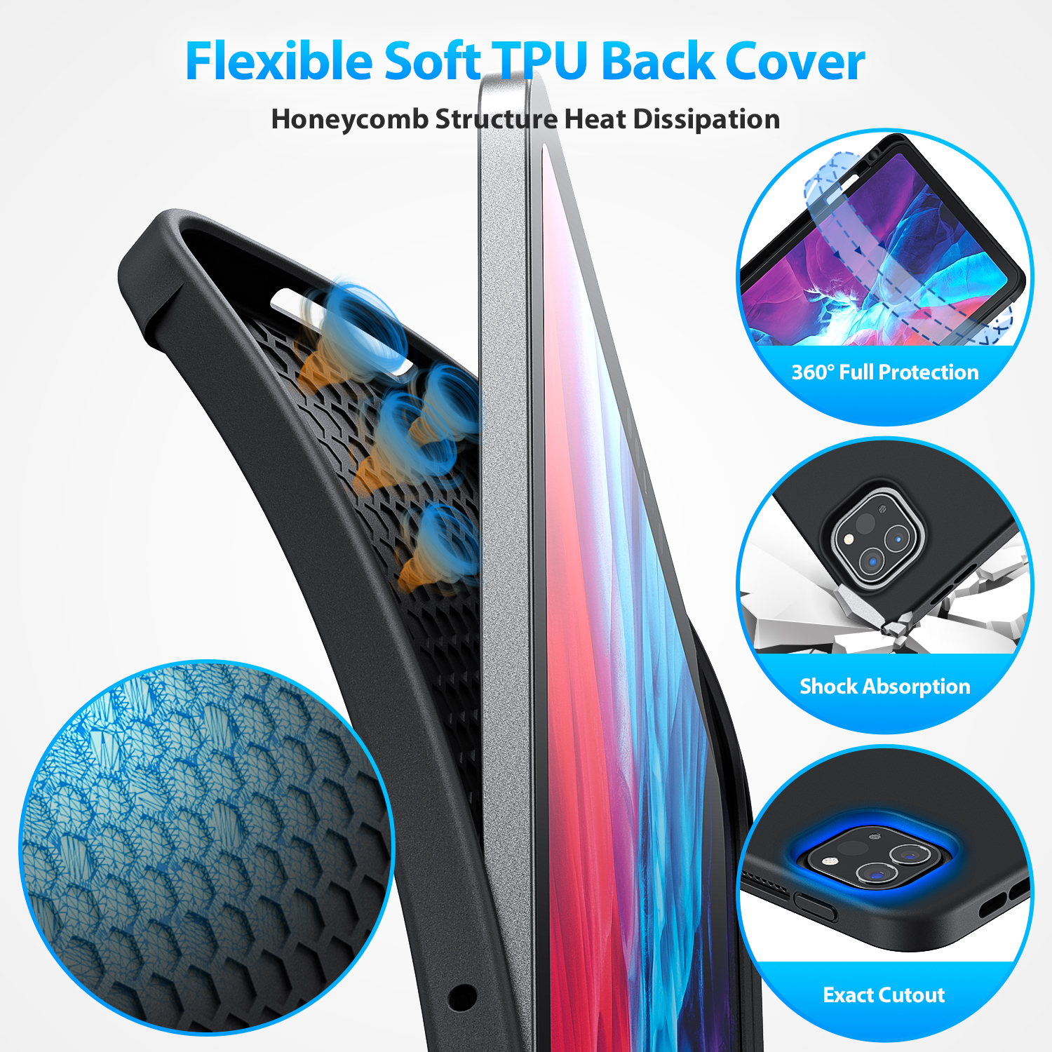 Keyboard Case for iPad Pro 11 2020-Supports 2nd Gen Pencil ...